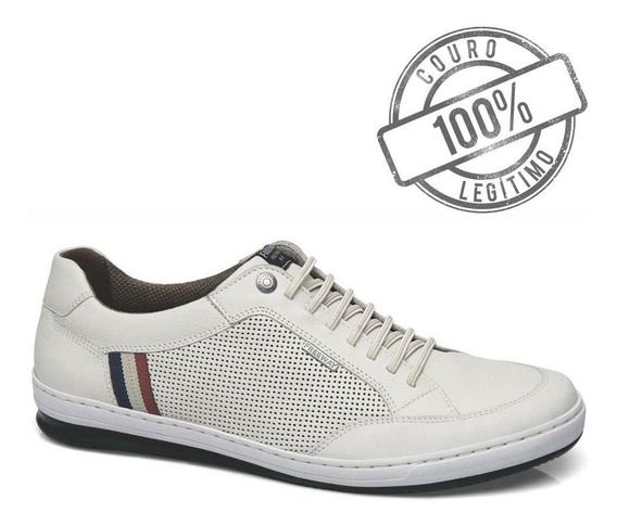 Sapatenis Masculino Freeway Branco Couro Willy 3722