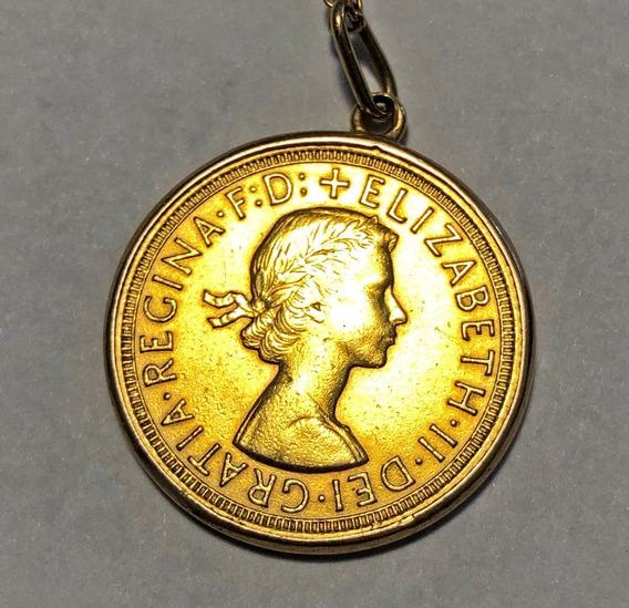 Moneda Antigua 1 Libra Esterlina Conmemorati. Inverti En Oro