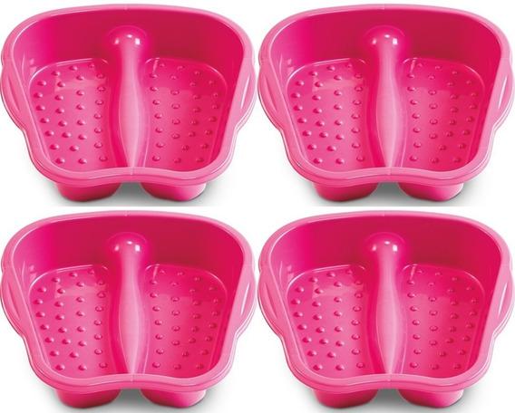 Bacia Plastica Para Pedicure Pés Unhas Rosa - Arqplast 4un