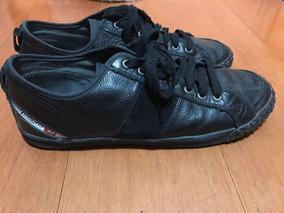Zapatillas Negras Diesel Cuero