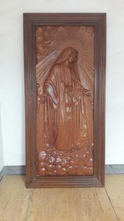 Cuadro Tallado Virgen De La Medallita