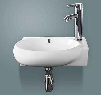 Esquina Pared Blanco Baño Cerámica Lavabo Vanidad Frega-7942
