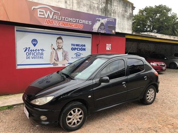 Peugeot 206 Xt Premium 2.0 Hdi Negro 100% Financiado