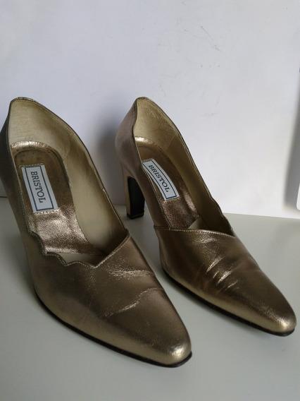 Sapato Social Ouro Velho Scarpin Bristol