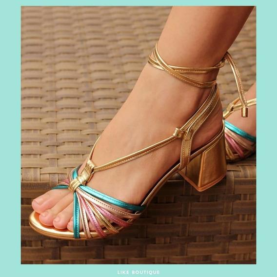 Sandálias Colors Metal