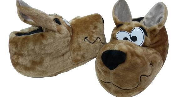 Pantufla Peluche Perro Scooby-doo Original Suela Goma