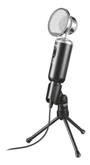 Microfone Trust Madell T21672 Com Fio Pc Pronta Entrega