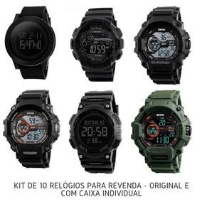 Relógios Masculinos Shock Revenda Kit Com 10 Peças Original