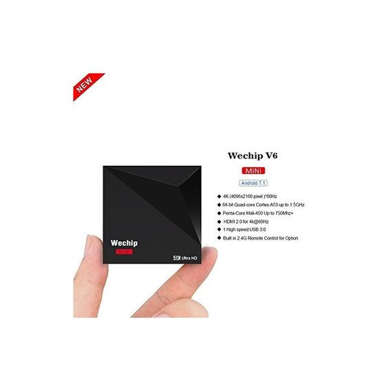 V6 Android 7.1 Tv Box Rk3328 Quad-cor 1g 8g Wifi 2.4g