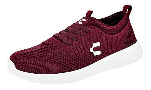 Tenis Charly 1029698 Hombre Color Vino Sc.
