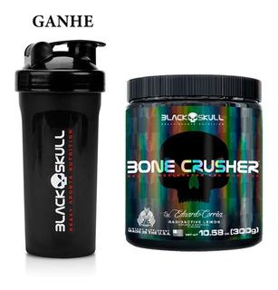 Bone Crusher 300g - Pré Treino + Coqueteleira - Black Skull