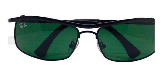 Óculos Ray Ban 3339 Demolidor Preto Lente Verde G 15