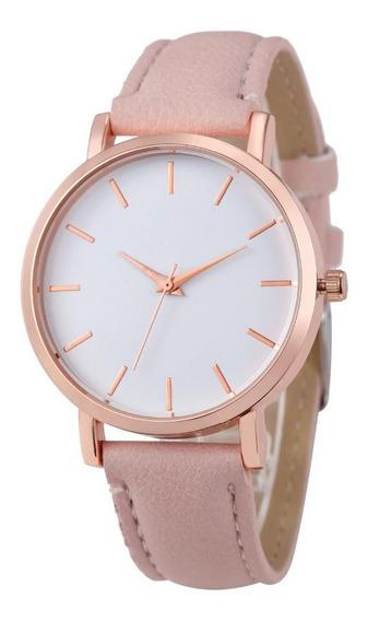 Relógio Feminino Luxo Dourado Pulso Analógico Pronta Entrega
