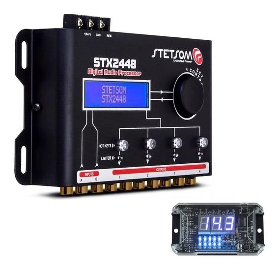 Processador Crossover Stetsom Stx2448 + Brinde Voltímetro Vs