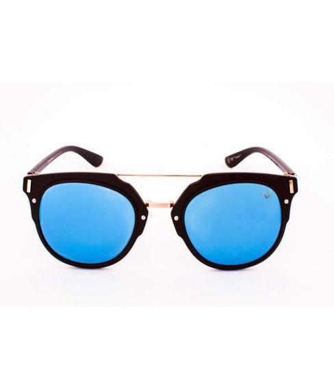 Óculos De Sol Drop Me Las Retro Acetato Preto Fosco Lente