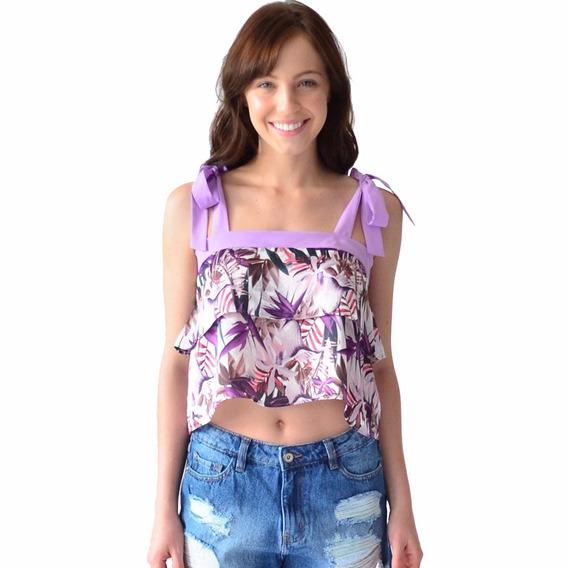 Blusa Mujer Con Olanes Rack & Pack Estampada En Flores
