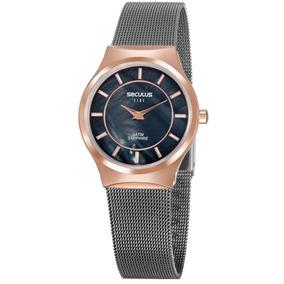Relógio Seculus Feminino Sapphire 20772lpsvus2 Ultra Fino