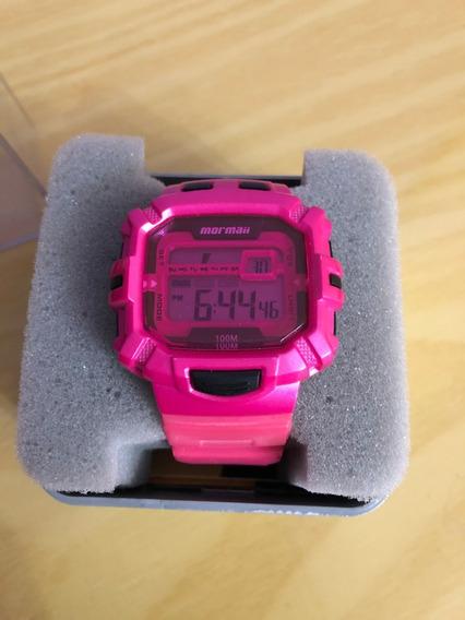 Relógio De Pulso Mormaii Mo938 Rosa Digital Feminino 10atm