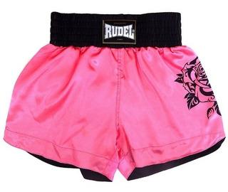 Shorts Calção De Luta Muay Thai Cetim Rudel Esportes