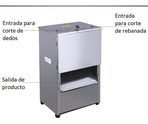 Chiflera / Rebanadora Importada 2hp Motor 1500w Acero Inoxid