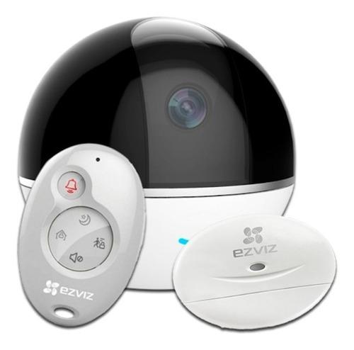 Cámara + Alarma Ip Wifi 1080p Ezviz 360  Hikvision C6tc