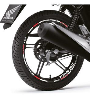 Kit Friso Refletivo Honda Fan 150 + 08 Adesivos Interno