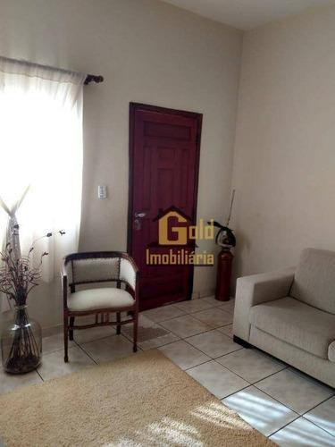 Casa Com 3 Dormitórios Para Alugar, 110 M² Por R$ 1.750,00/mês - Parque Residencial Cândido Portinari - Ribeirão Preto/sp - Ca1039