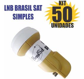 Kit 50 Peças Lnbf Ku Simples Universal Lnb Semi Novo