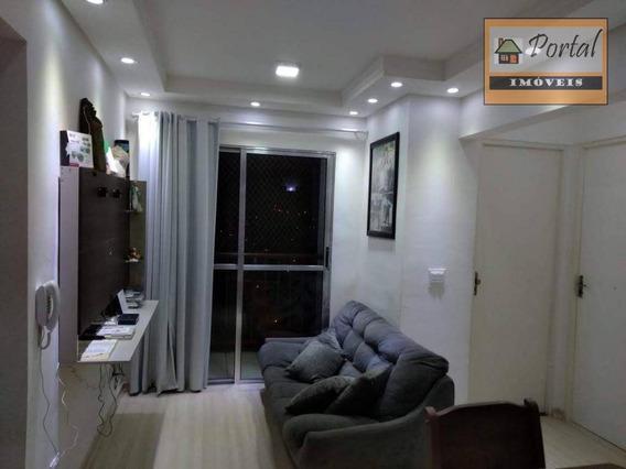 Apartamento Com Cozinha Planejadaportaria Eletrônica, Salão Para Festas, Churrasqueira E Playground - Jardim Das Acácias - Várzea Paulista/sp - Ap0095