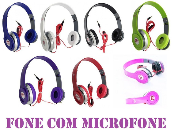 37 Fone De Ouvido Mex Style 569 Headfone Com Microfone