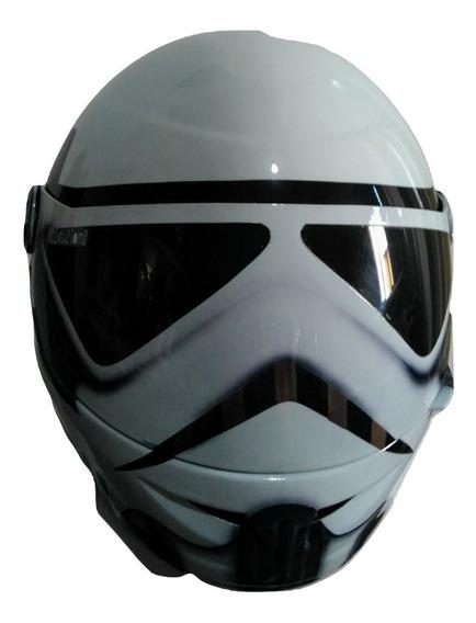 Capacete Personalizado Branco Star Wars Pro Tork Liberty 60