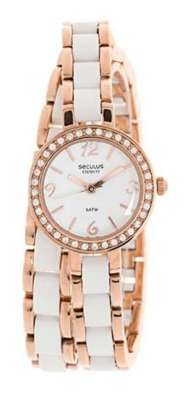 Relógio Seculus Feminino 20061lpsnrf1 Pulseira 2 Voltas