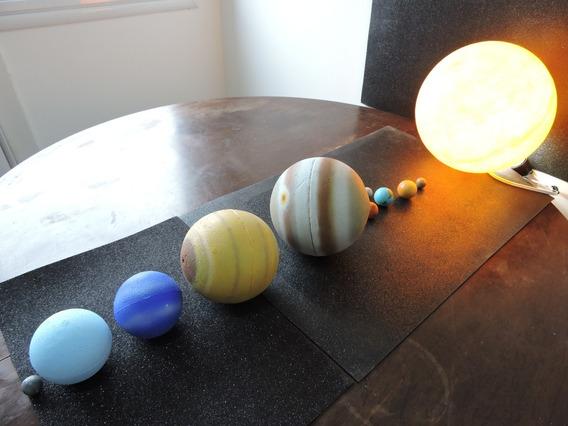 Maquete Com Os Planetas Do Sistema Solar Brinquedos E