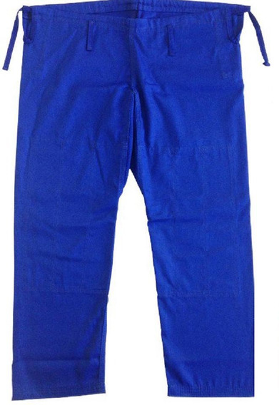 Calça De Kimono Azul A2 Jiu Jitsu Judo Rip Stop Premium