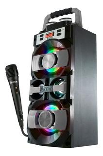 Parlante Spica Portatil + Microfono Karaoke Bluetooth Sp3207