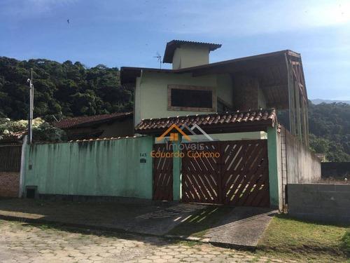 Casa Com 5 Dormitórios À Venda, 350 M² Por R$ 640.000,00 - Massaguaçu - Caraguatatuba/sp - Ca0363
