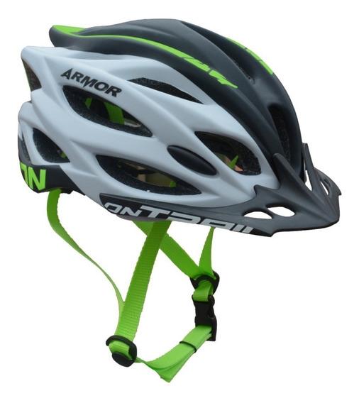 Casco Ciclismo On Trail Armor Luz Integrada Mtb Ruta
