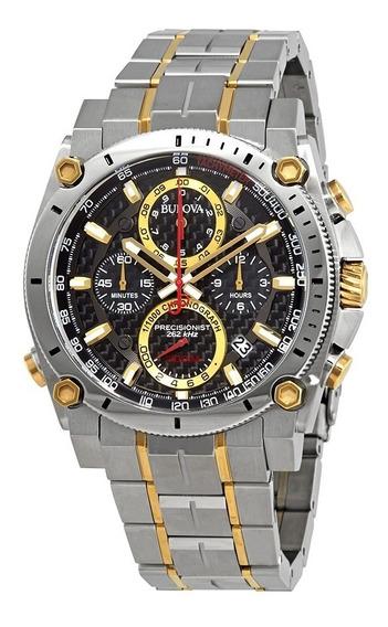 Relógio Bulova Masculino Precisionist 98b228 Misto Dourado