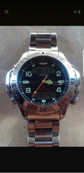 Relógio Citizen Jp3040 Muito Novo Zerado Tudo Funcionando Pe