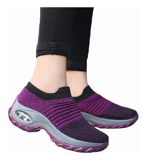 Zapatillas Para Dama De Deporte Malla Transpirable