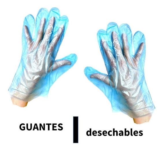 Guantes Desechables X 100 Unidades (de Plástico)