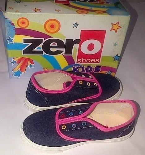 Zapatos Niñas Marca Zero Talla 30 Azul Con Rosado. Nuevos.