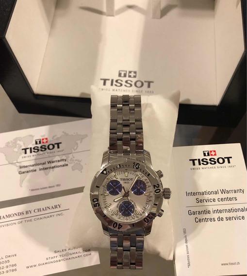 Relógio Tissot Prs200 Original Seminovo White/blue Na Caixa