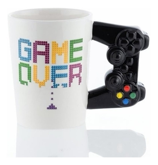 Taza Play Station Game Over Consola Play Joystick