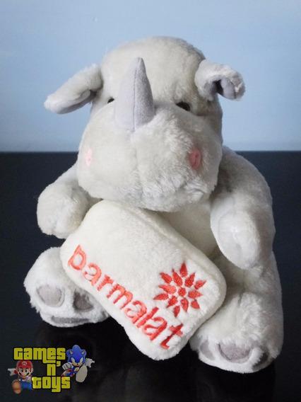 Boneco Pelúcia Rinoceronte Coleção Mamíferos Da Parmalat