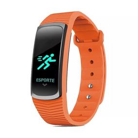 Relógio Mormaii Smart Fit Gps Mob3ac/8l Laranja Com Nf-e