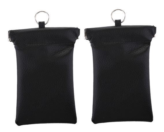 2 Pack Saco De Bloqueio De Sinal Rfid Pu Bolsa Carteira Chav