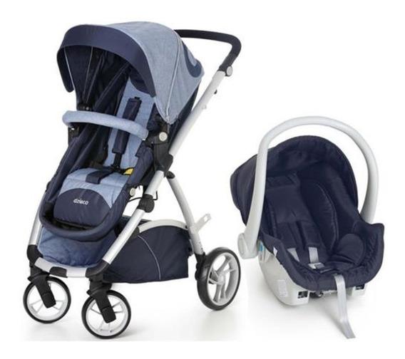 Carrinho Dzieco Maly Azul+ Bb Conforto