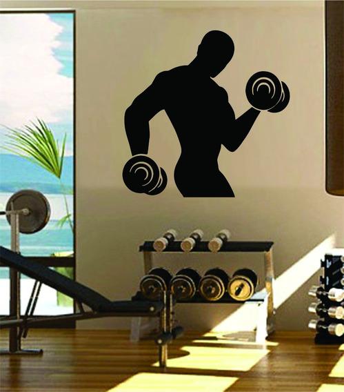 Adesivo De Parede Academia Fitness Musculação Crossfit 80x80