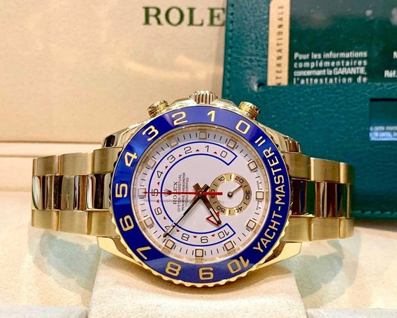Rolex Yacht Master Ii Ouro 18k - Aceito Troca